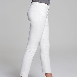Paige Kylie Crop Optic White Jeans